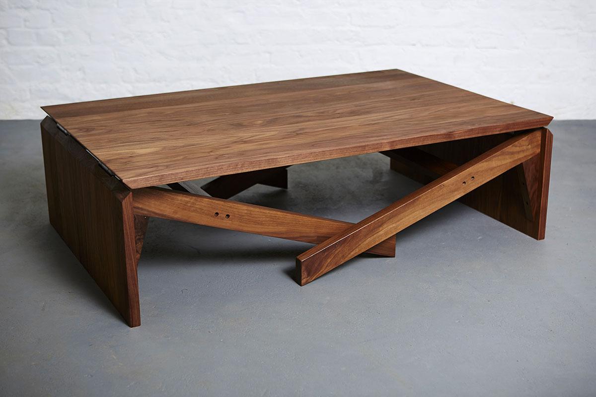 Mk1 Transforming Coffee Table Wood Duffy London