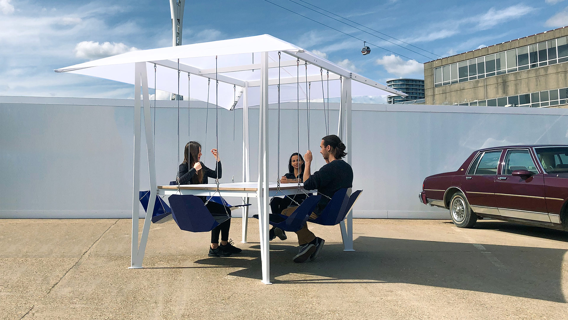 Outdoor Swing Table by Duffy London