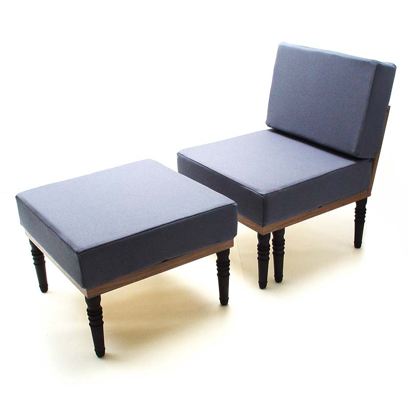 Sofa bed and chair with foot stool bed bench table for Foot of bed furniture