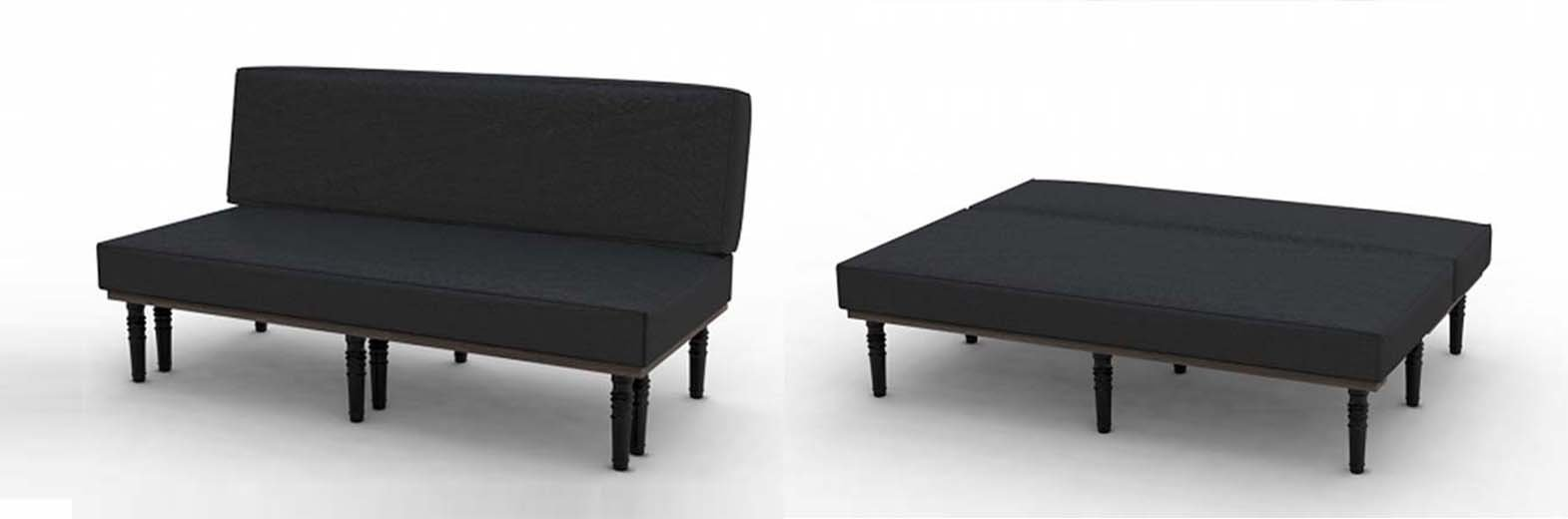Sofa bed and chair with foot stool bed bench table for Divan bed feet