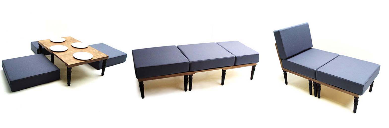 PRODUCT DETAILS  sc 1 st  Duffy London & Sofa Bed and Chair with Foot Stool Bed Bench Table - Duffy London islam-shia.org