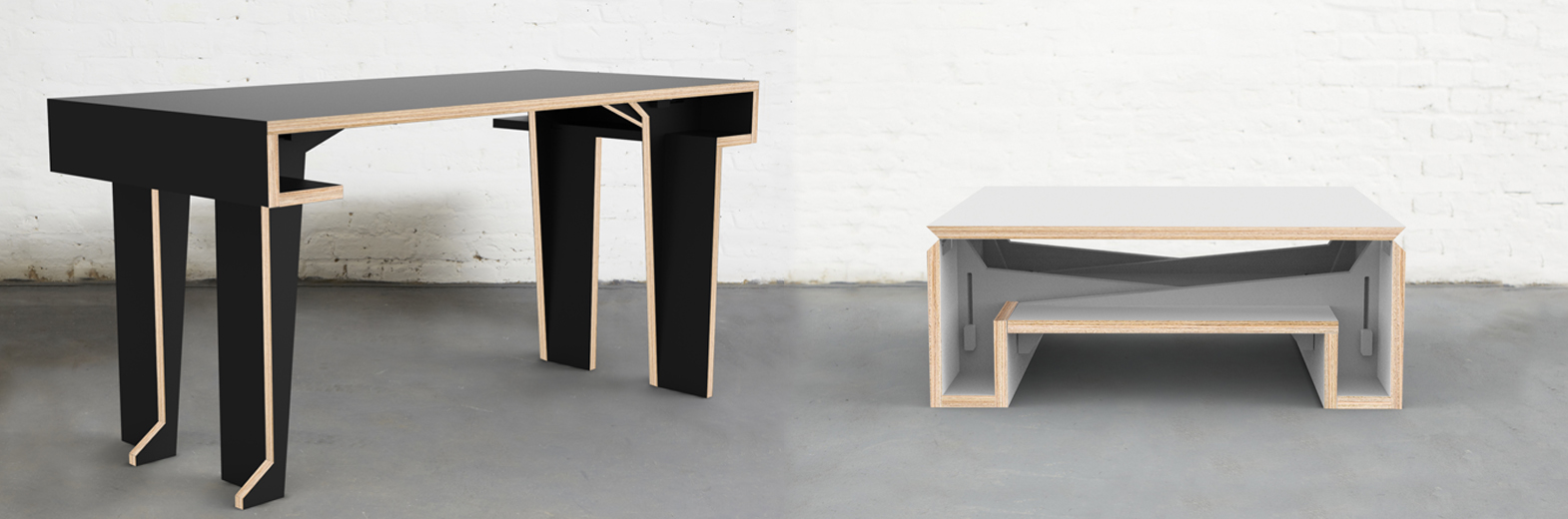 PRODUCT DETAILS - MK2 Transforming Coffee Table - Duffy London