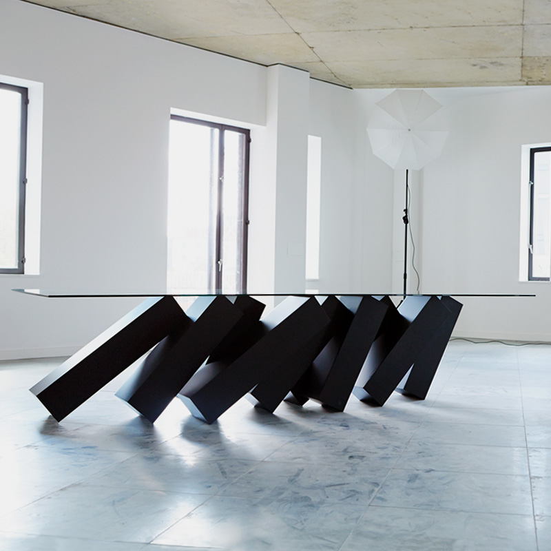 Megalith table duffy london for Designer furniture london