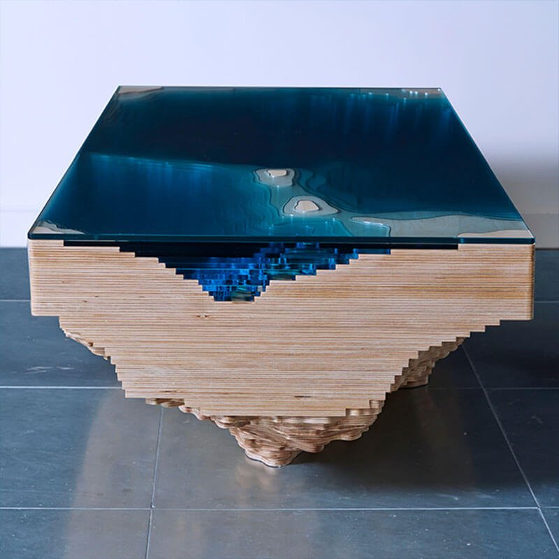 Abyss Table Duffy London - Topographic coffee table