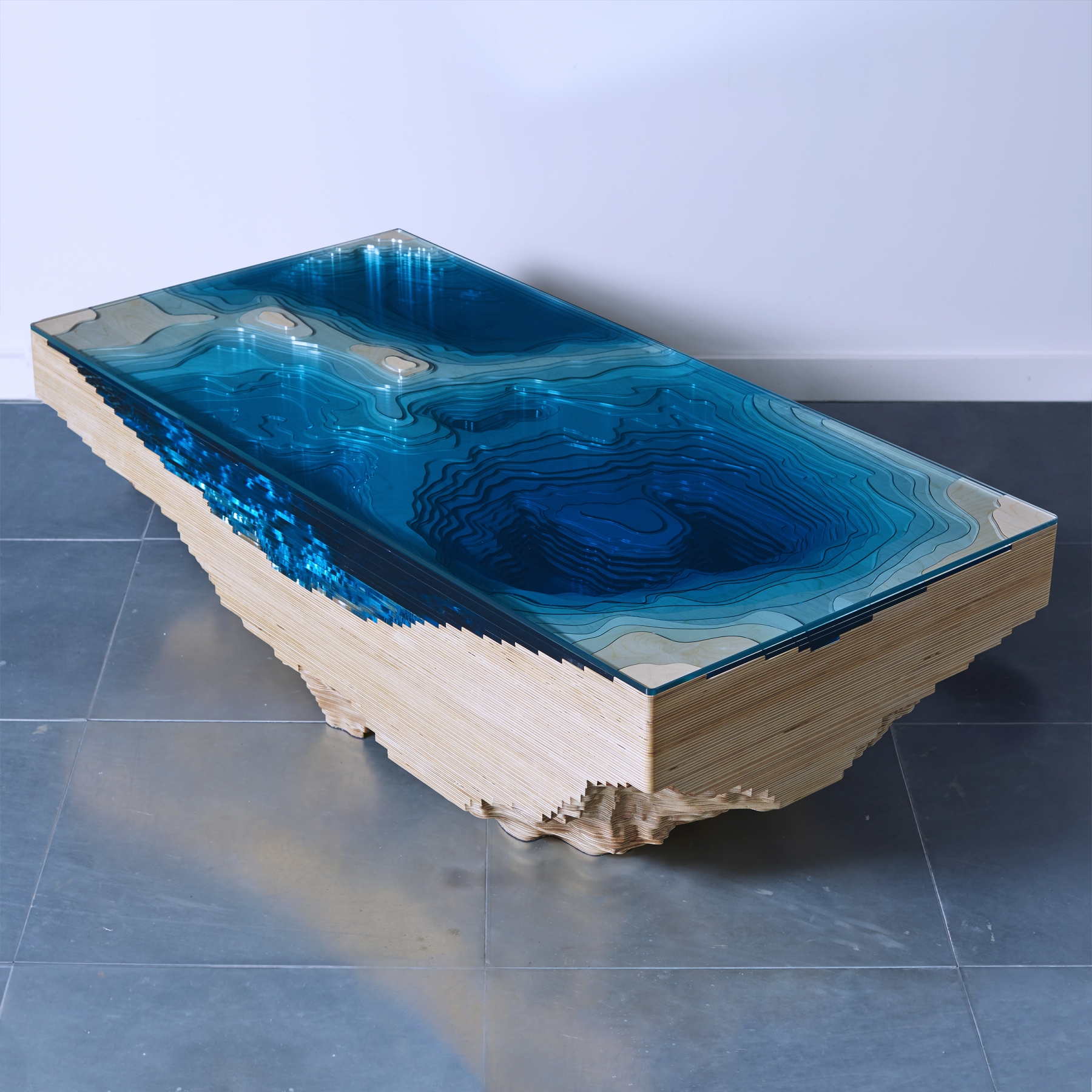 Abyss Table on gravity interior design