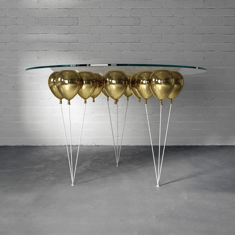 all gold up balloon dining table duffy